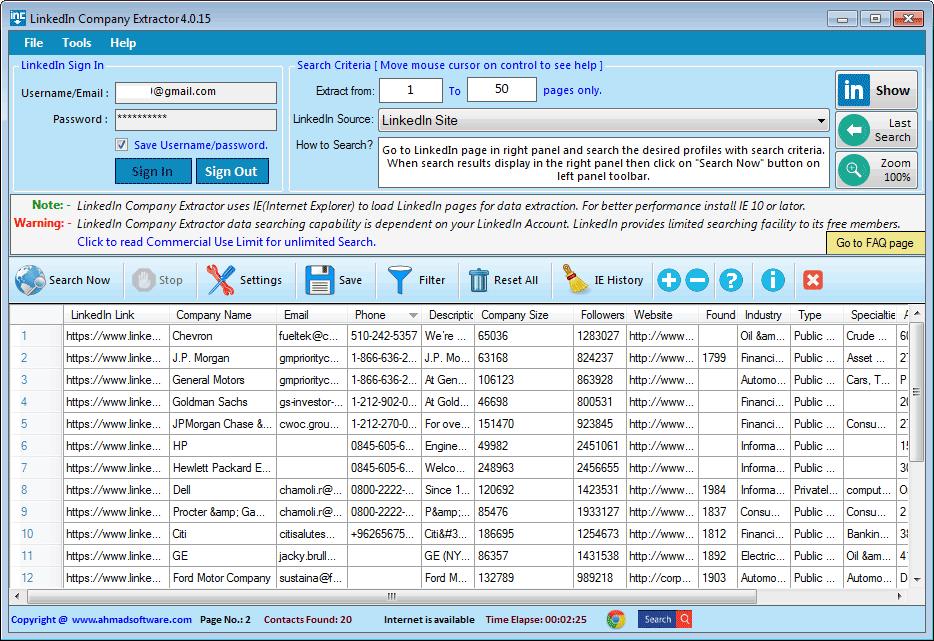 LinkedIn Company Extractor 3.0.6.1